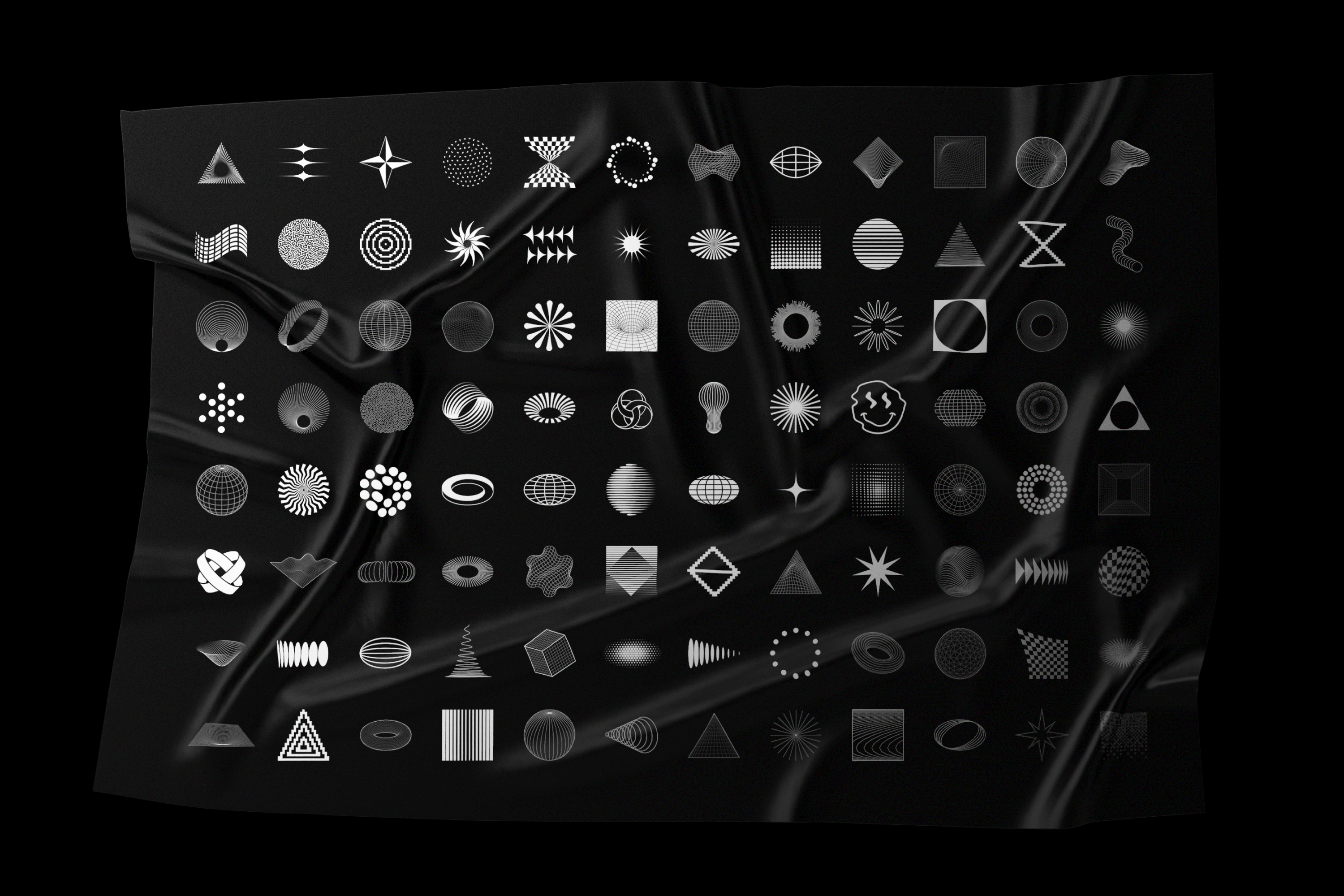 Abstract Shapes collection - 100 design elements example image 17