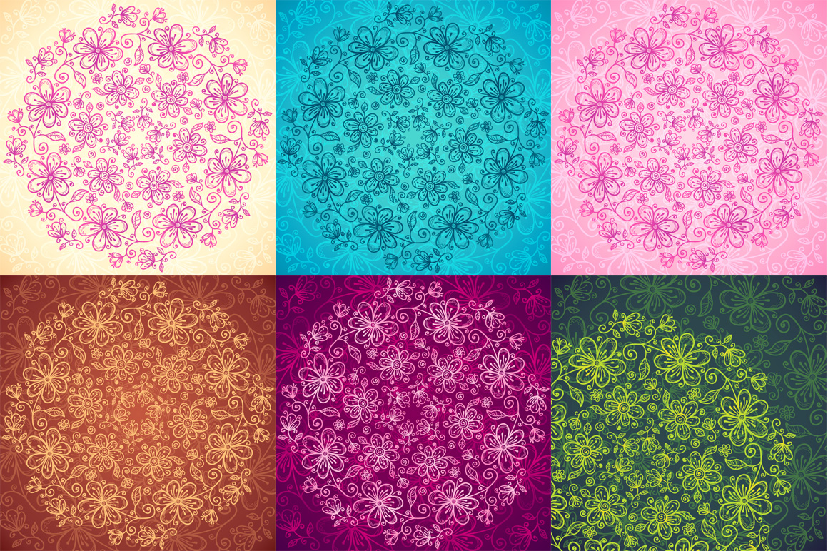 24 vector floral backgrounds example image 4