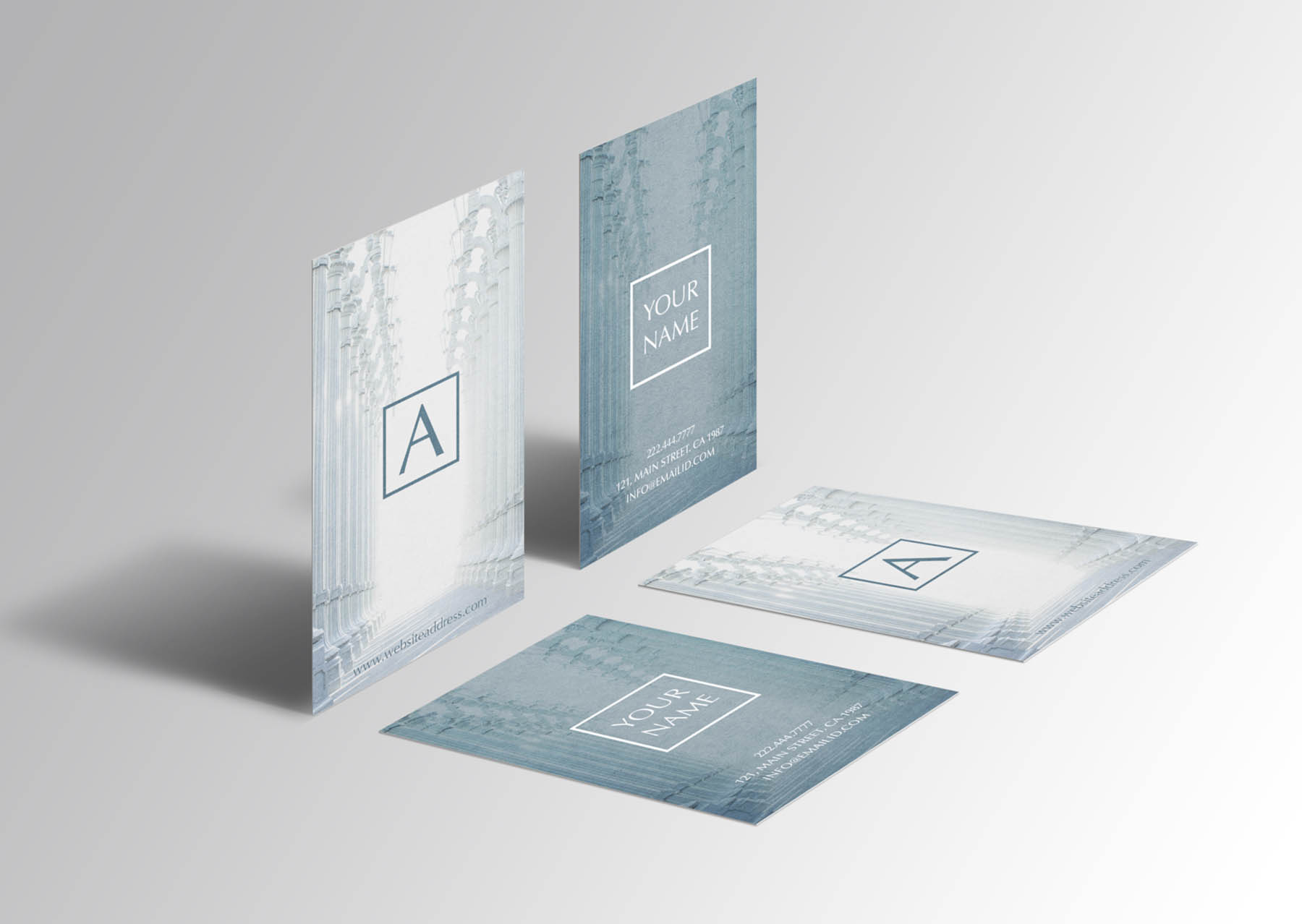 Beautiful rich texture business card example image 2