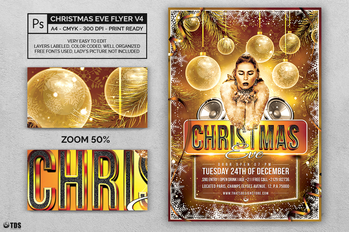 Christmas Eve Flyer Template V4 example image 2