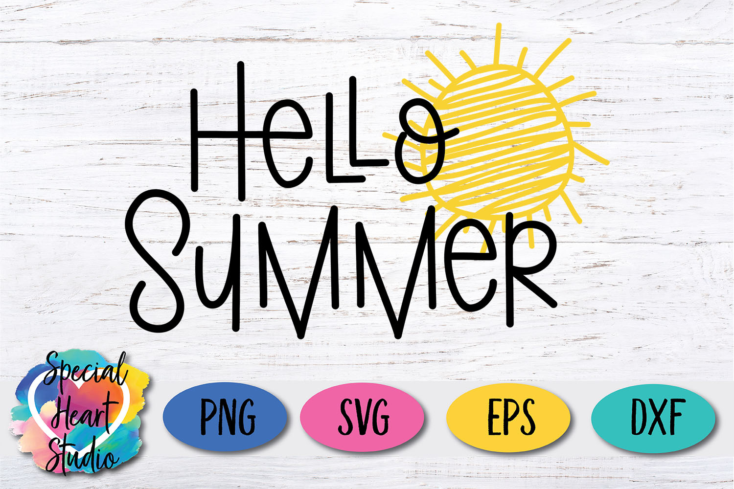 Hello Summer SVG - A cute summer cut file example image 2