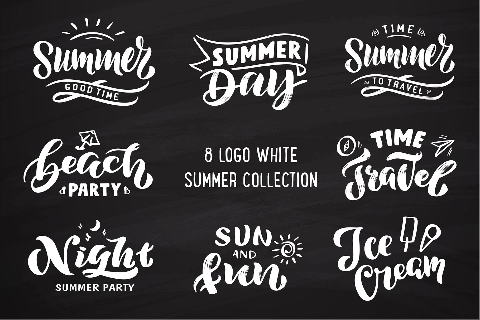 Summer logo set Bonus example image 3