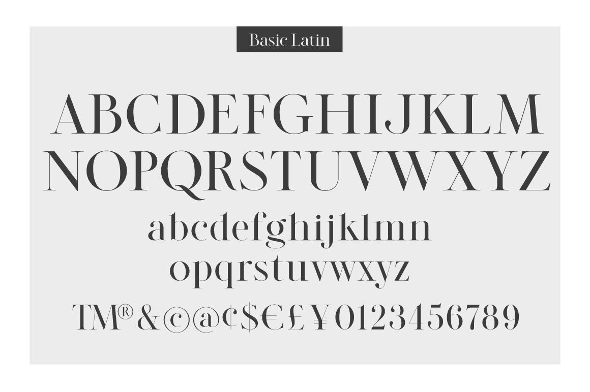 LEGATUM font family example image 3