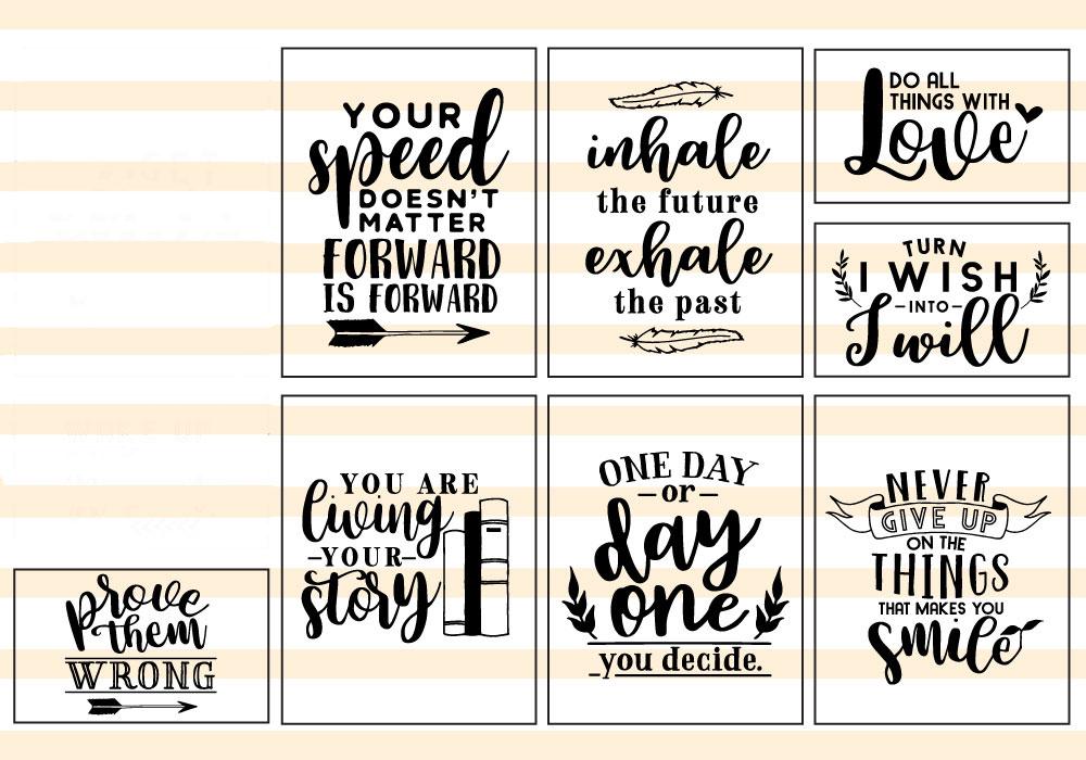 Motivational Quote SVG Cut Files Bundle example image 3