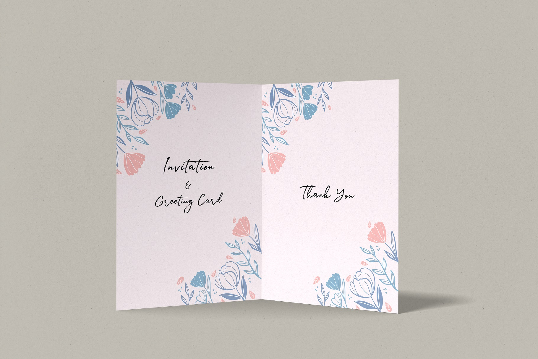 Invitation & Greeting Card Mockup example image 9