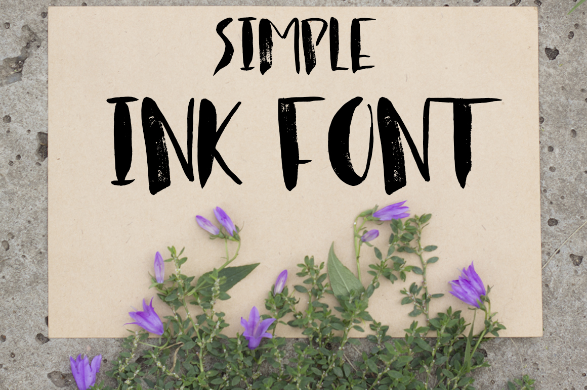 Simple ink font example image 2