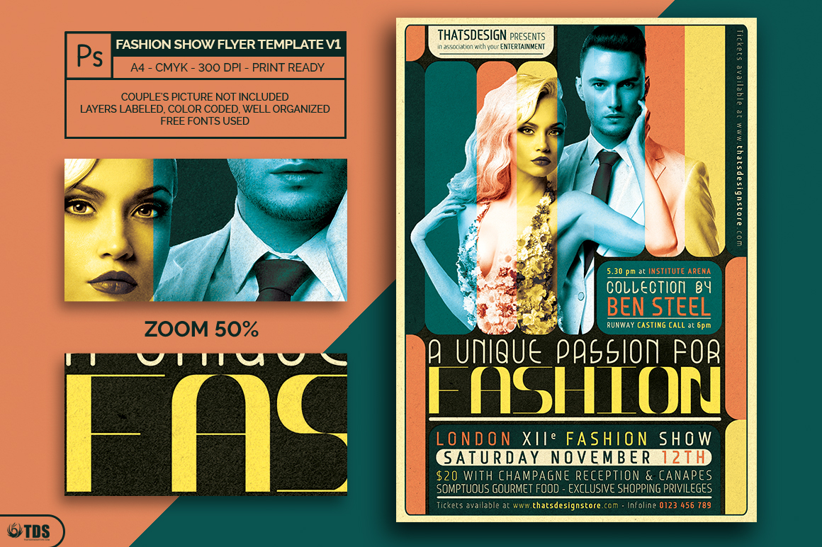 Fashion Show Flyer Template V1 example image 2
