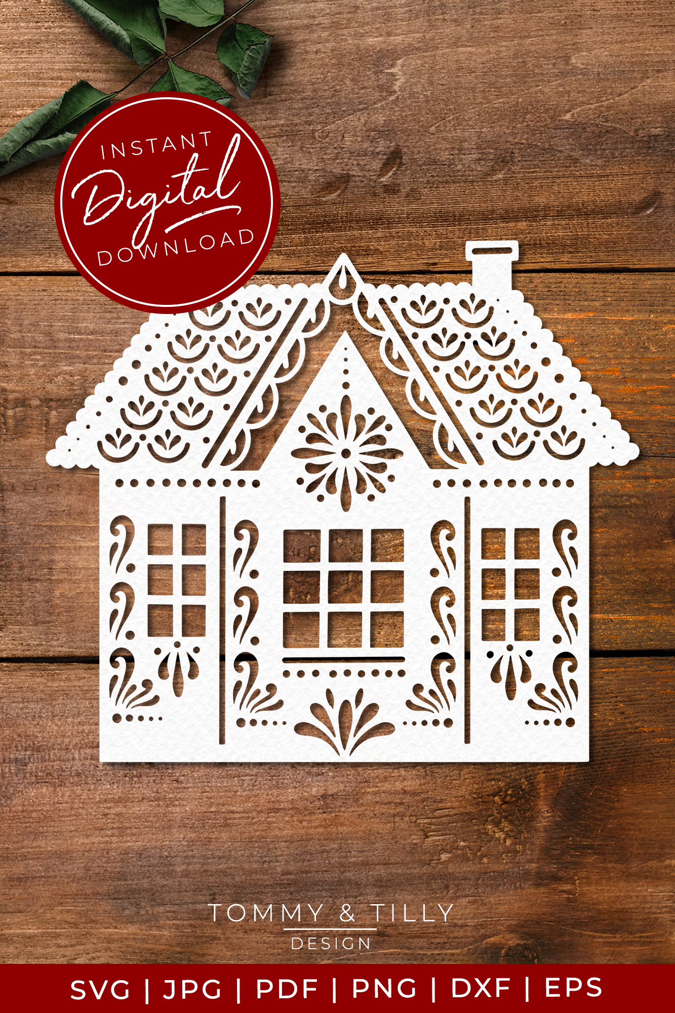 Intricate House No.2 - SVG EPS DXF PNG PDF JPG Cut File example image 4