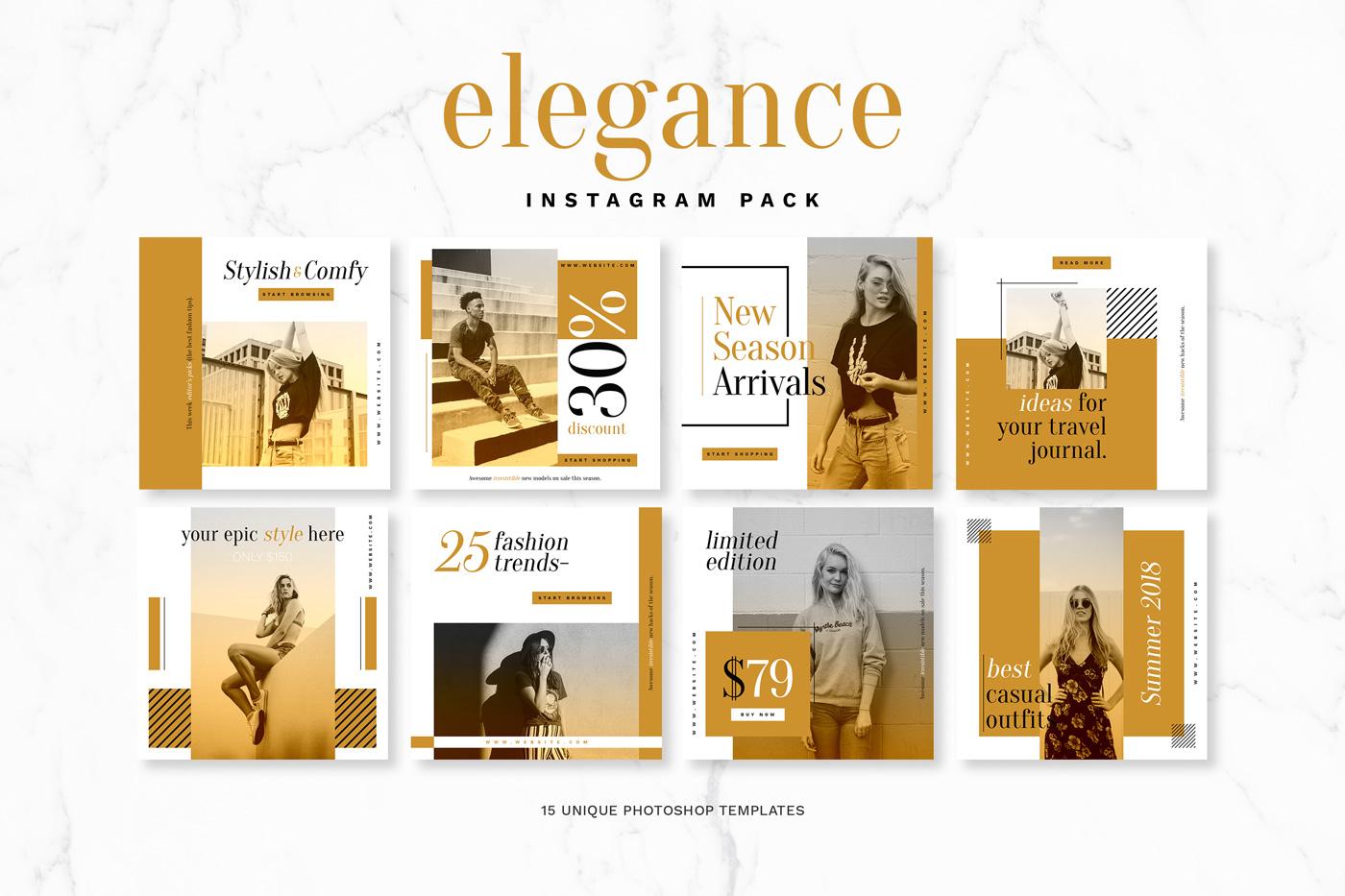 Elegance Instagram Pack example image 2
