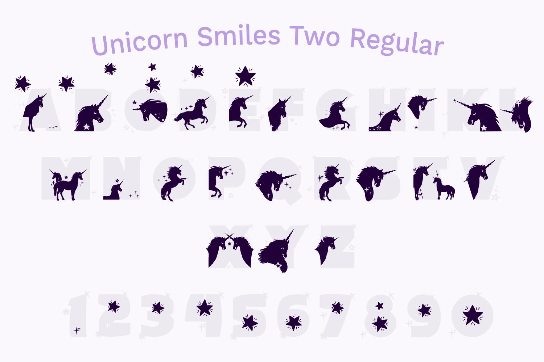 Unicorn Font | Unicorn Smiles Layered Font and Bonus Files example image 5