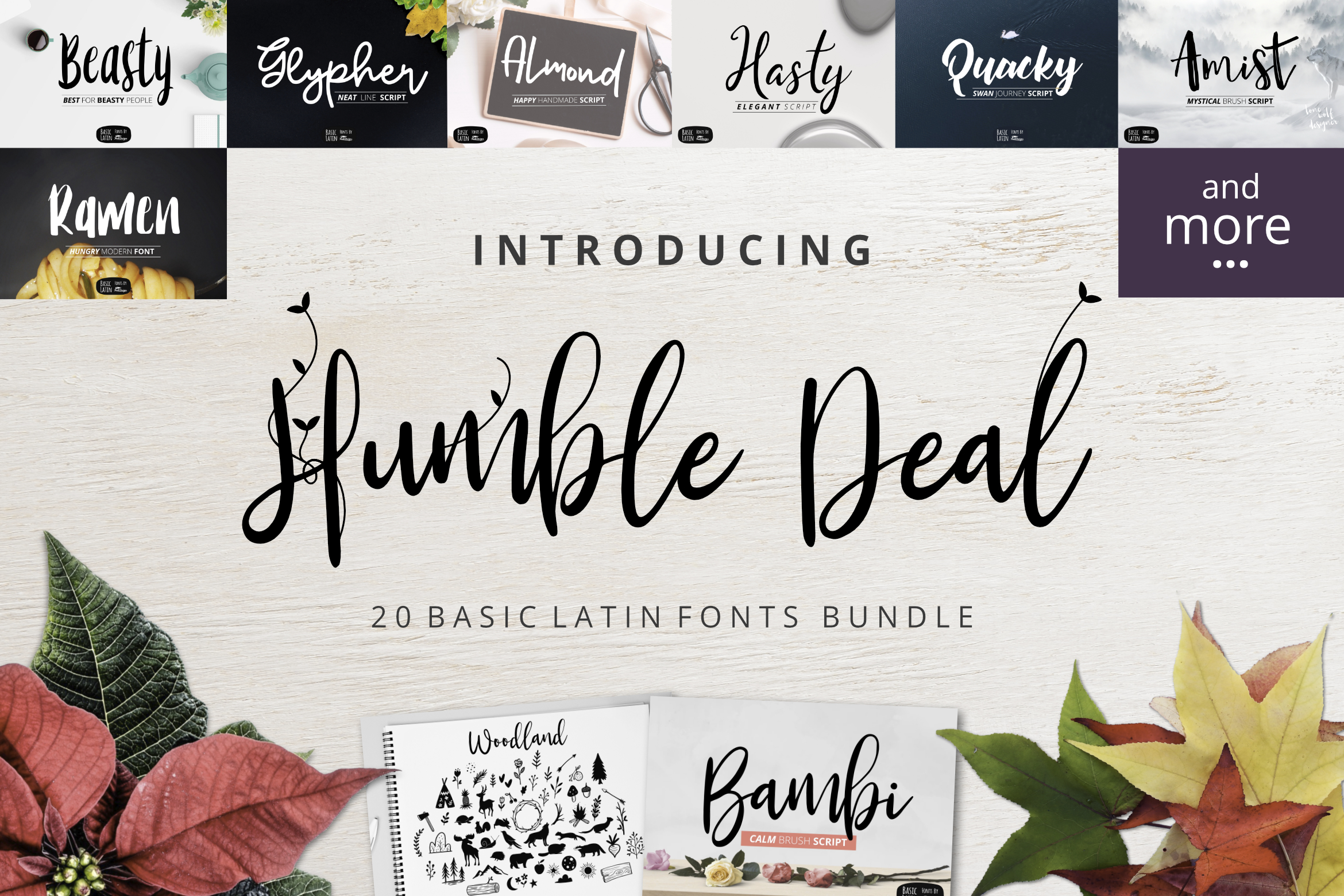 Humble Deal - 20 Font Bundle example image 1