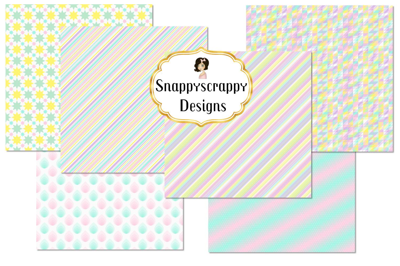 Unicorn Rainbow Background Papers example image 5