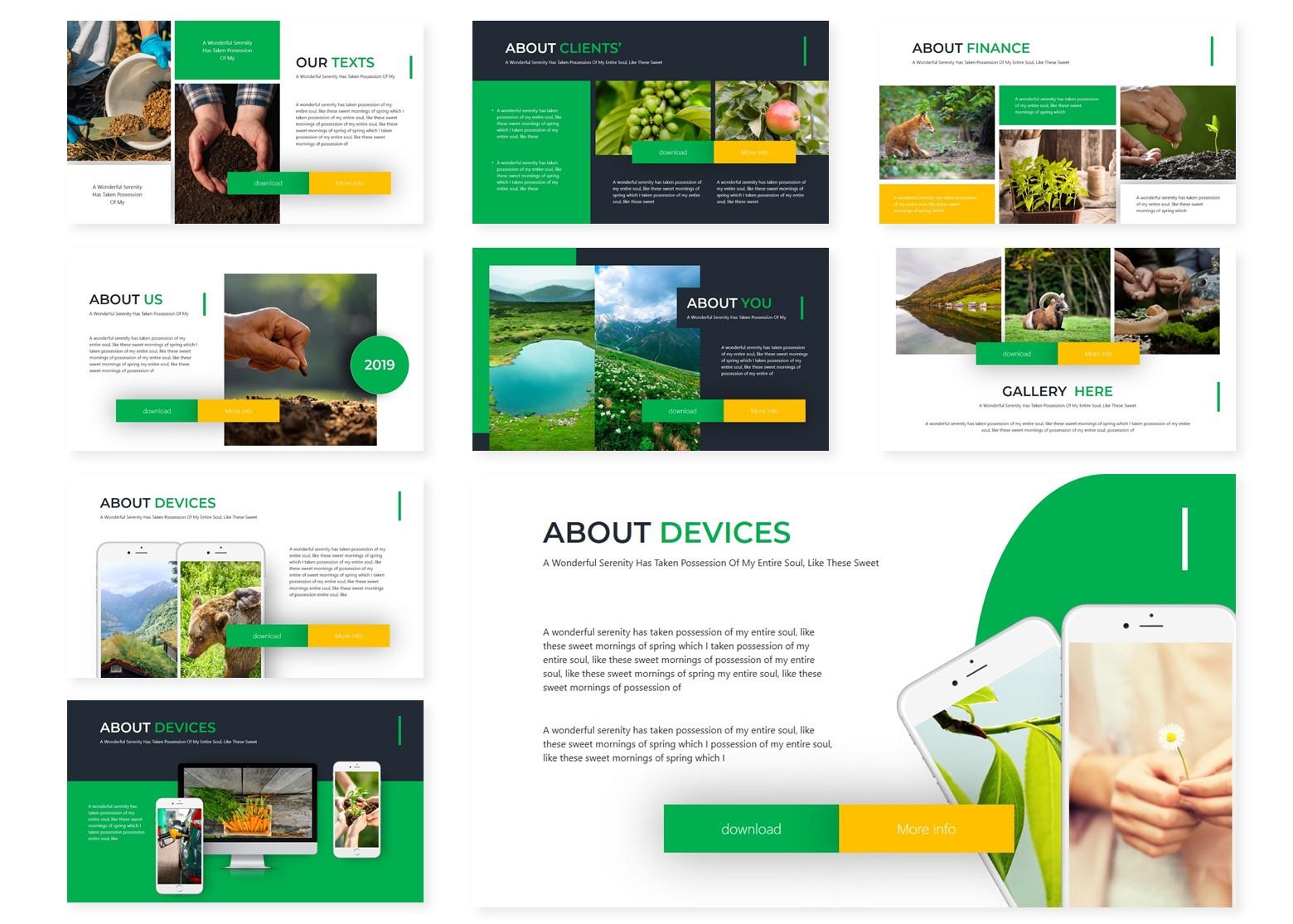 Greenaz | Powerpoint, Keynote, GoogleSlides Template example image 5