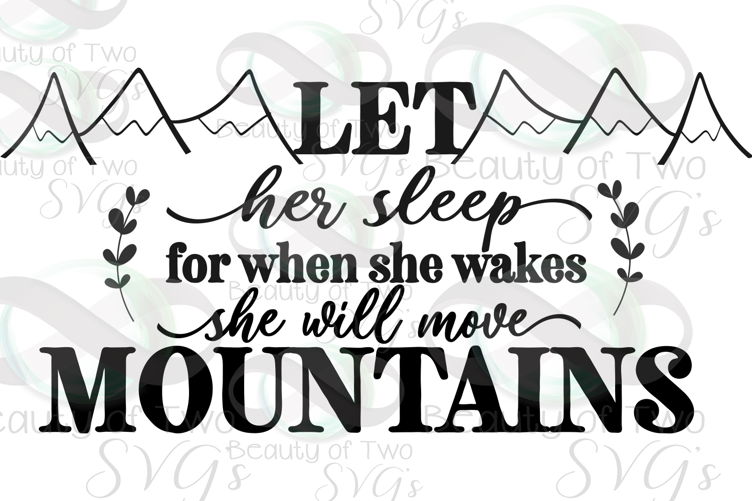 Let her sleep svg and png, nursery svg, baby girl svg example image 2