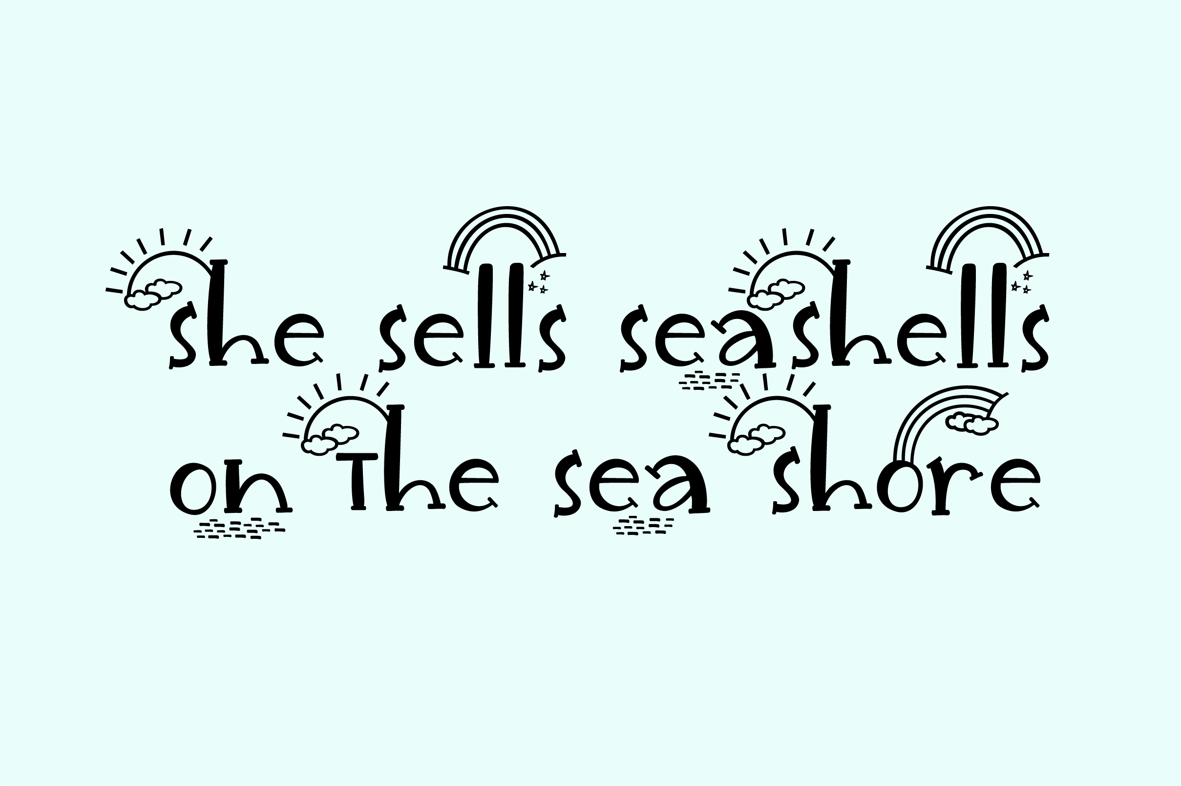 Unicorn Island Font and Dingbats example image 4