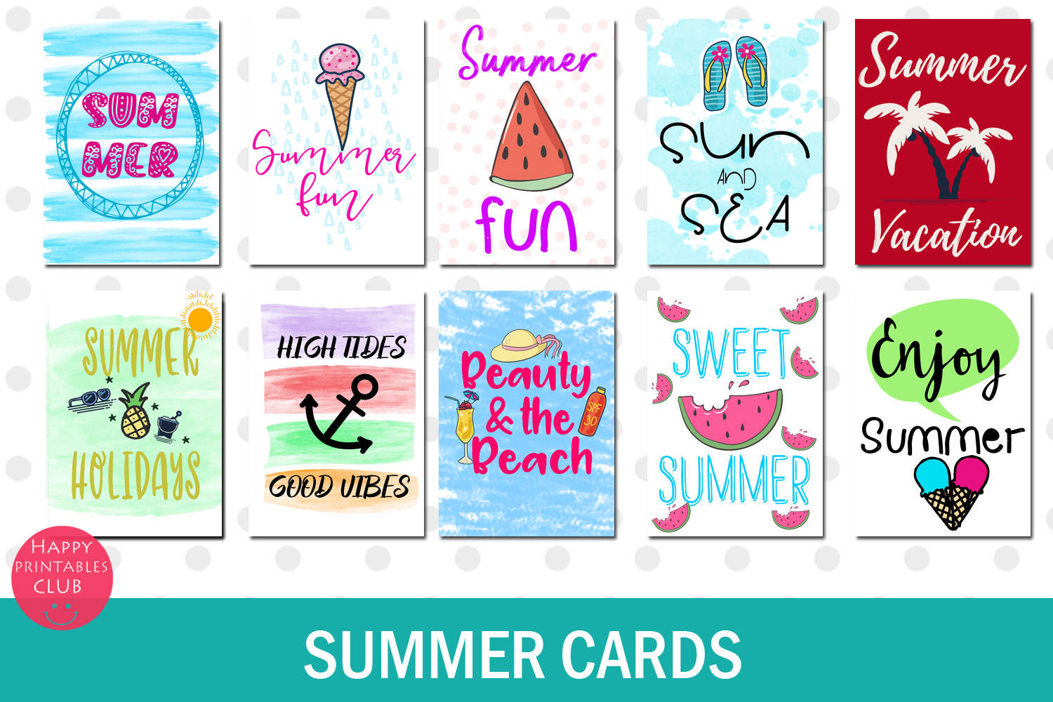 Summer Text Overlays- Summer Cards- Summer Text Clipart example image 5