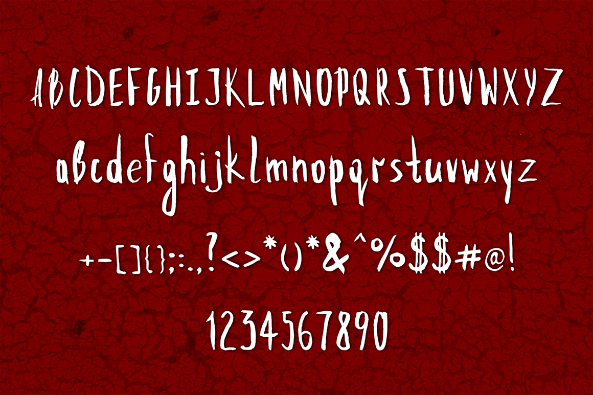 Our First Font example image 2