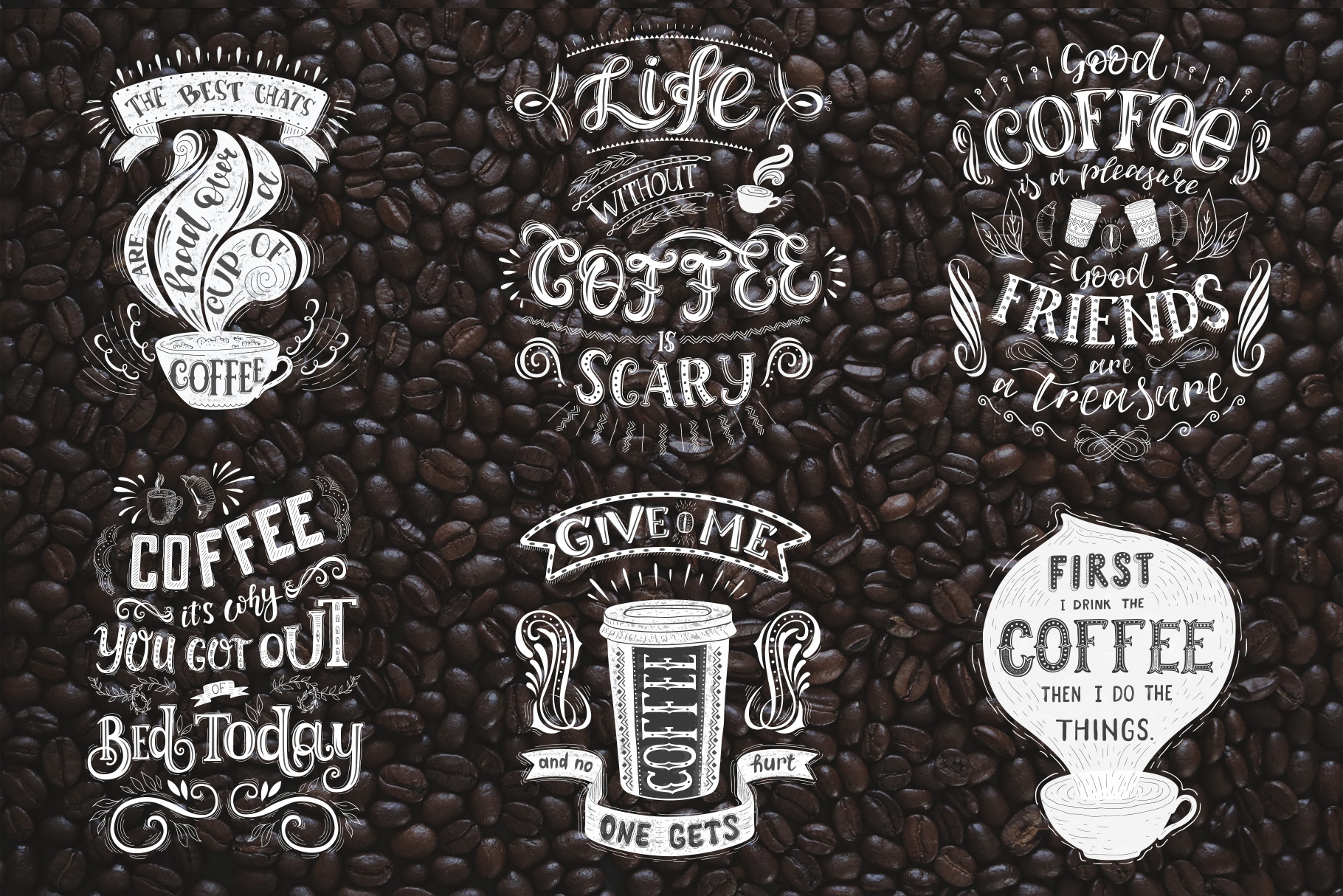Coffee. Handlettering Quotes. example image 15