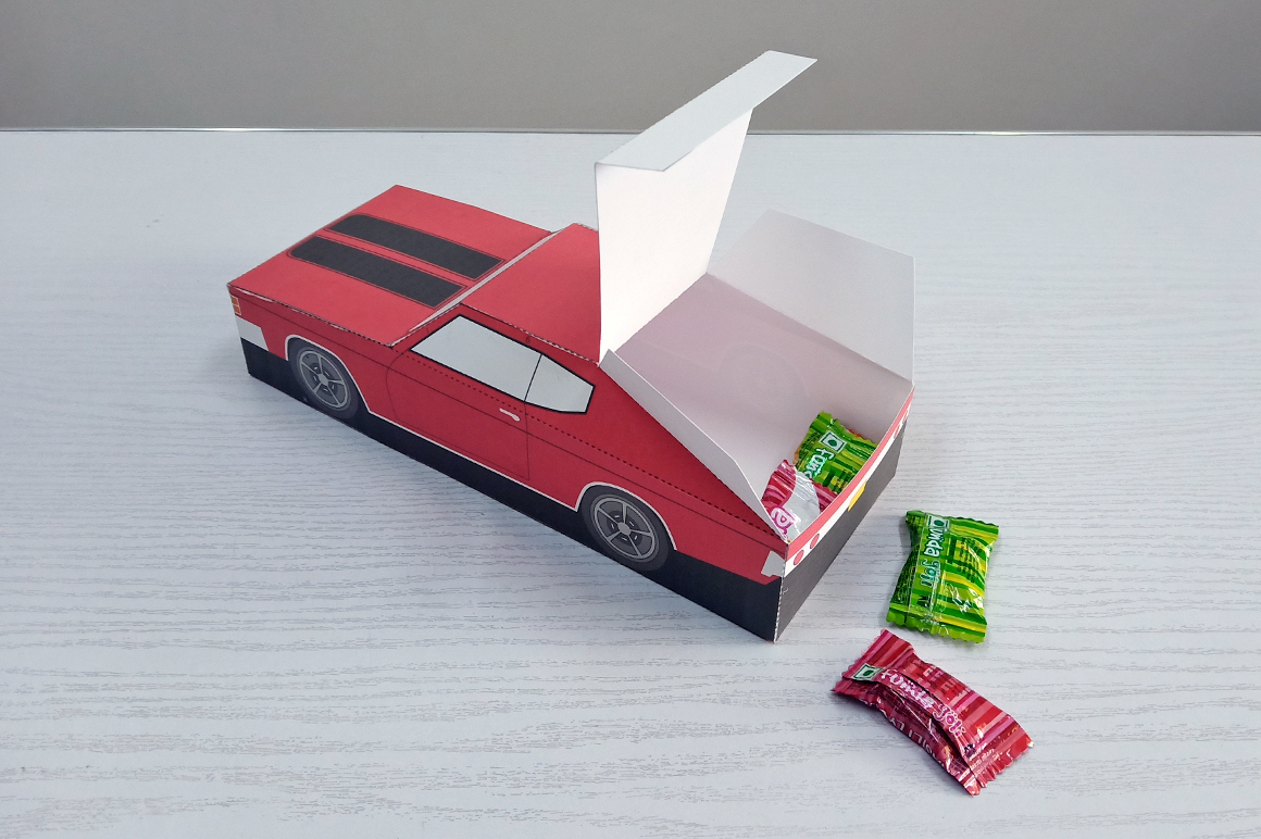 DIY Chevelle Car favor - 3d papercraft example image 5