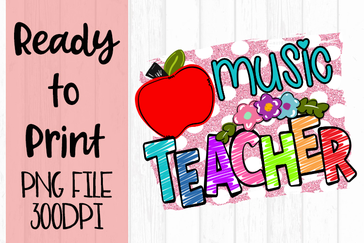 Music Teacher Bright Ready to Print example image 1