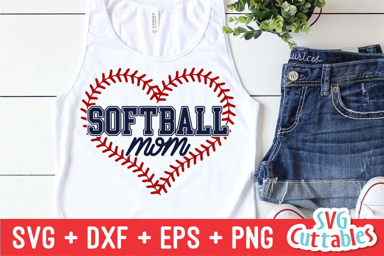 Softball Mom | SVG Cut File example image 1