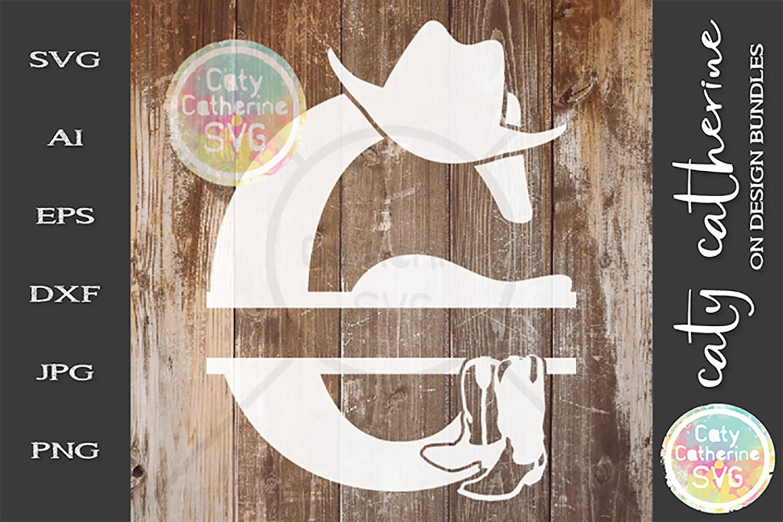 Letter G Cowboy Monogram SVG Includes Cowboy Boots example image 1