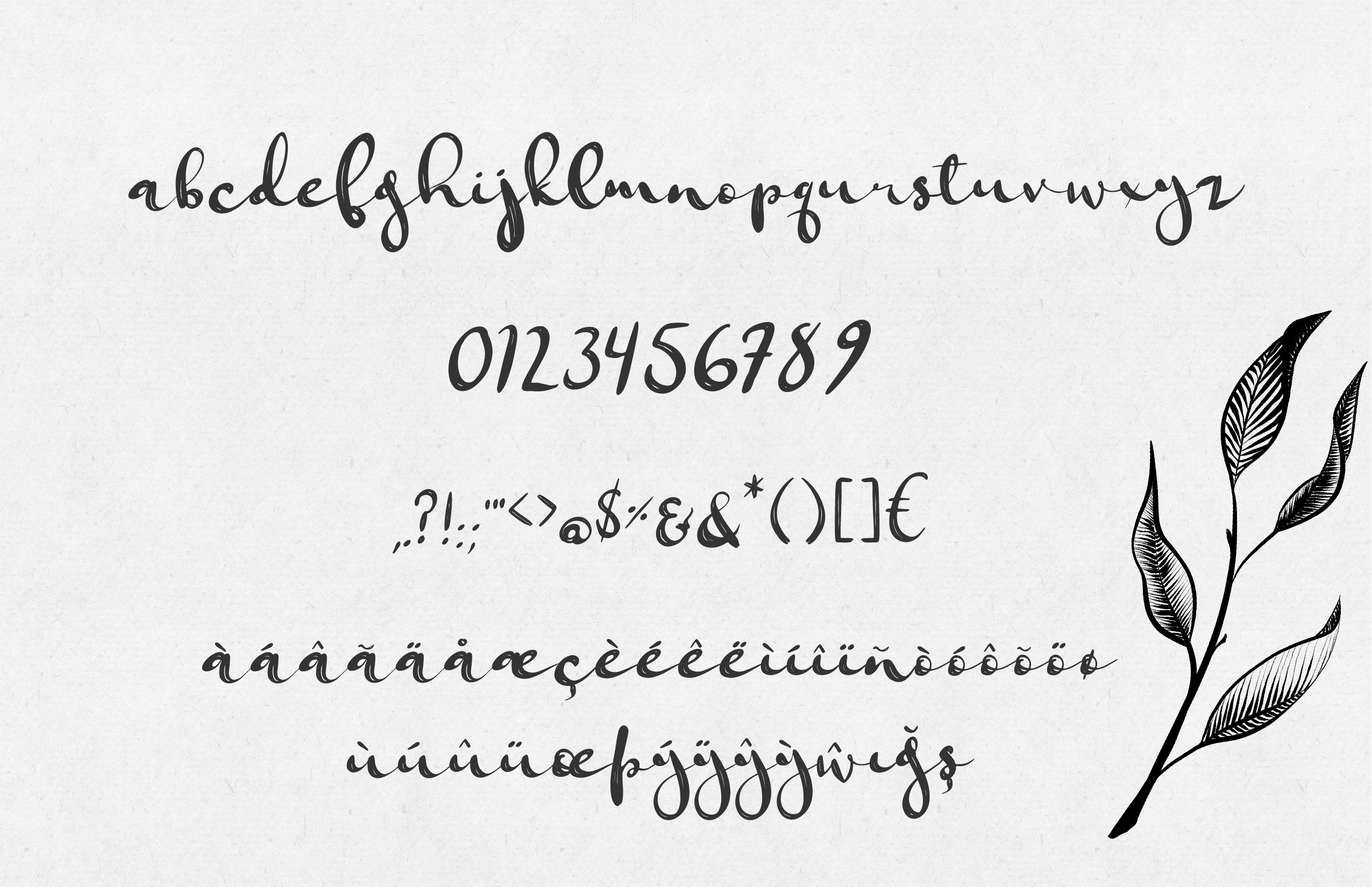 Jungfrau Slopes Modern Calligraphy Brush Script example image 2