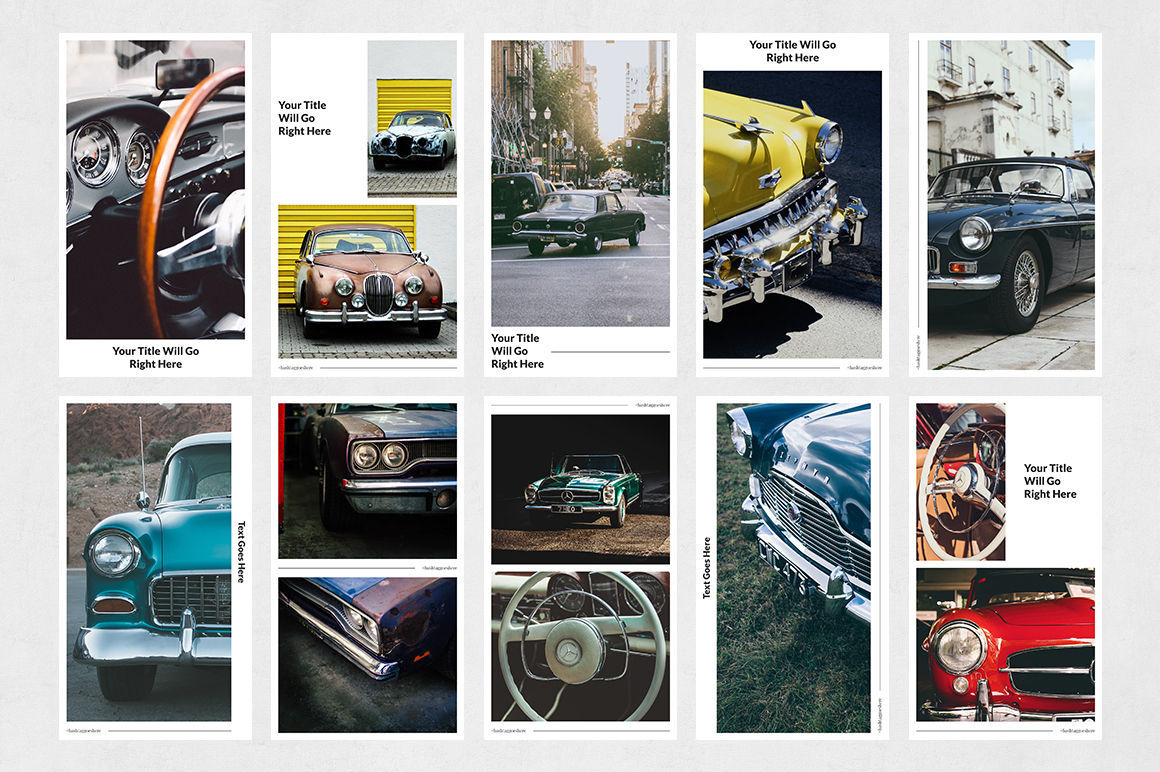 Classic Cars Animated Instagram Stories example image 7