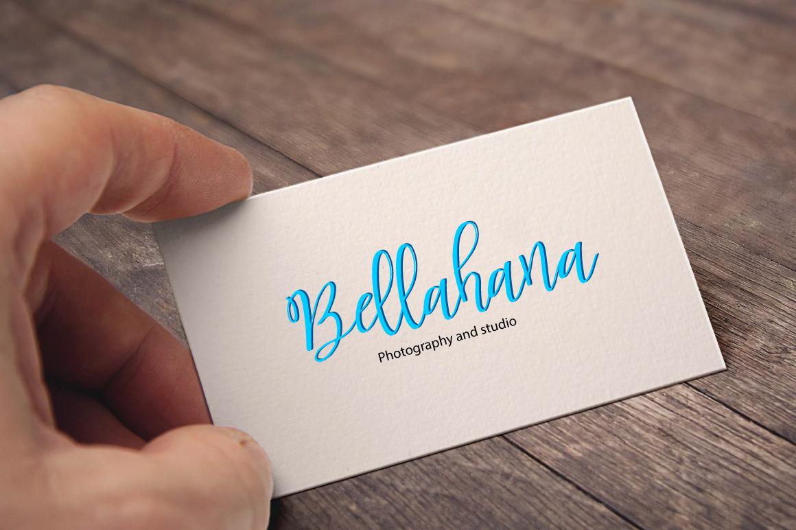 Bellahana Script example image 8
