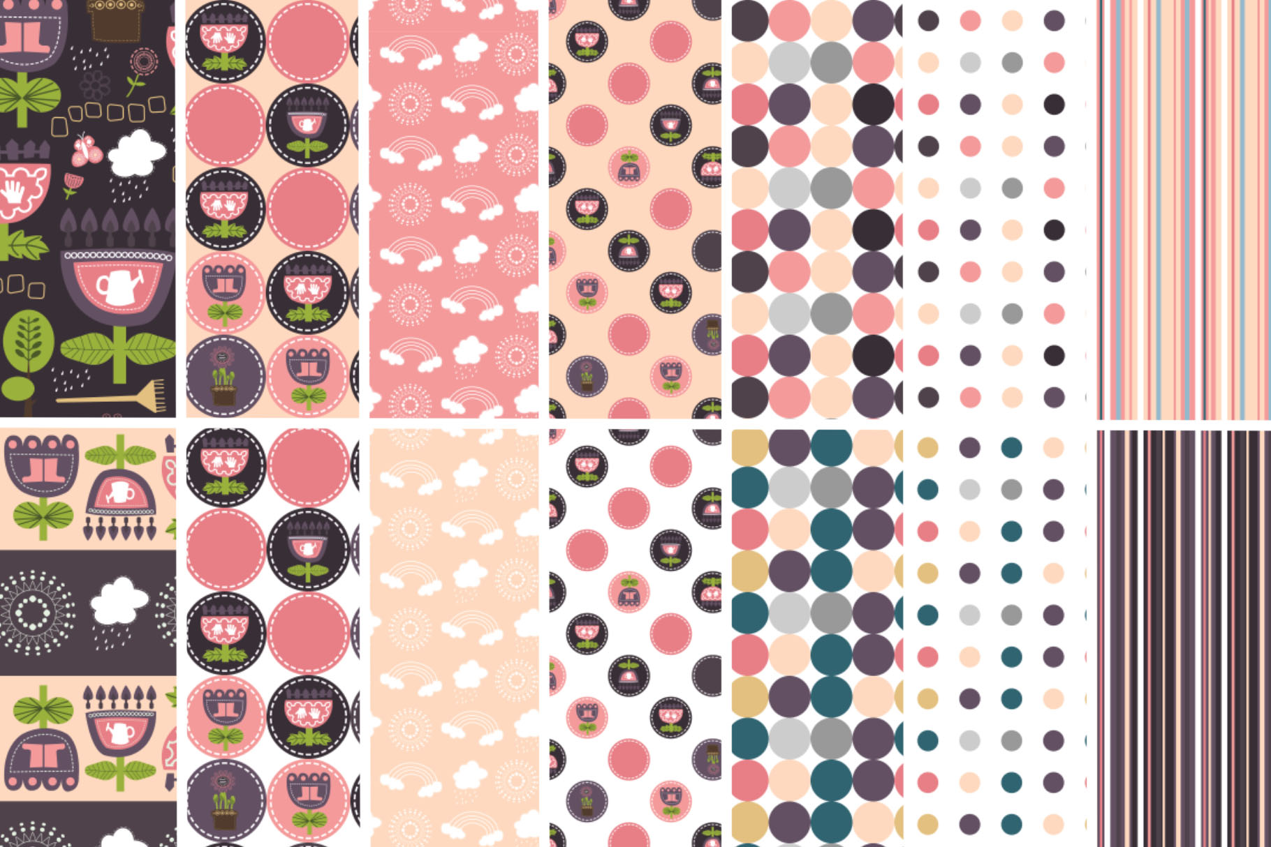 Spring Garden Pattern Collection example image 4