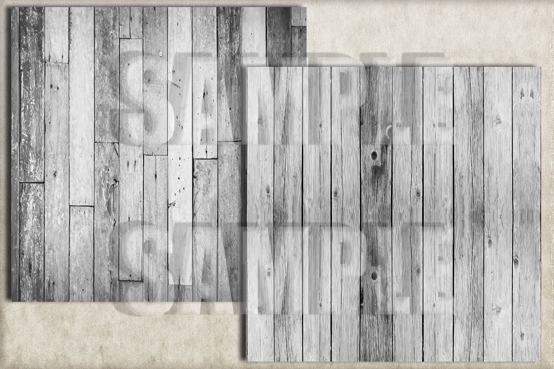 White Rustic Wood Digital Paper, Digital Background example image 3
