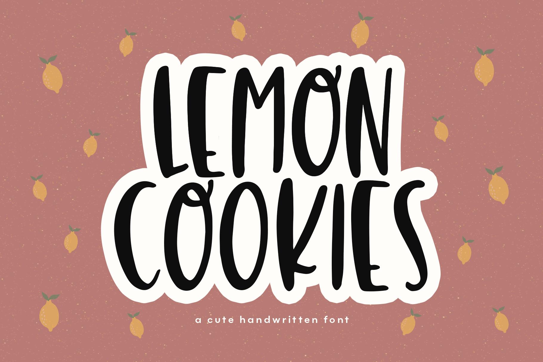 Lemon Cookies - A Fun Handwritten Font example image 1