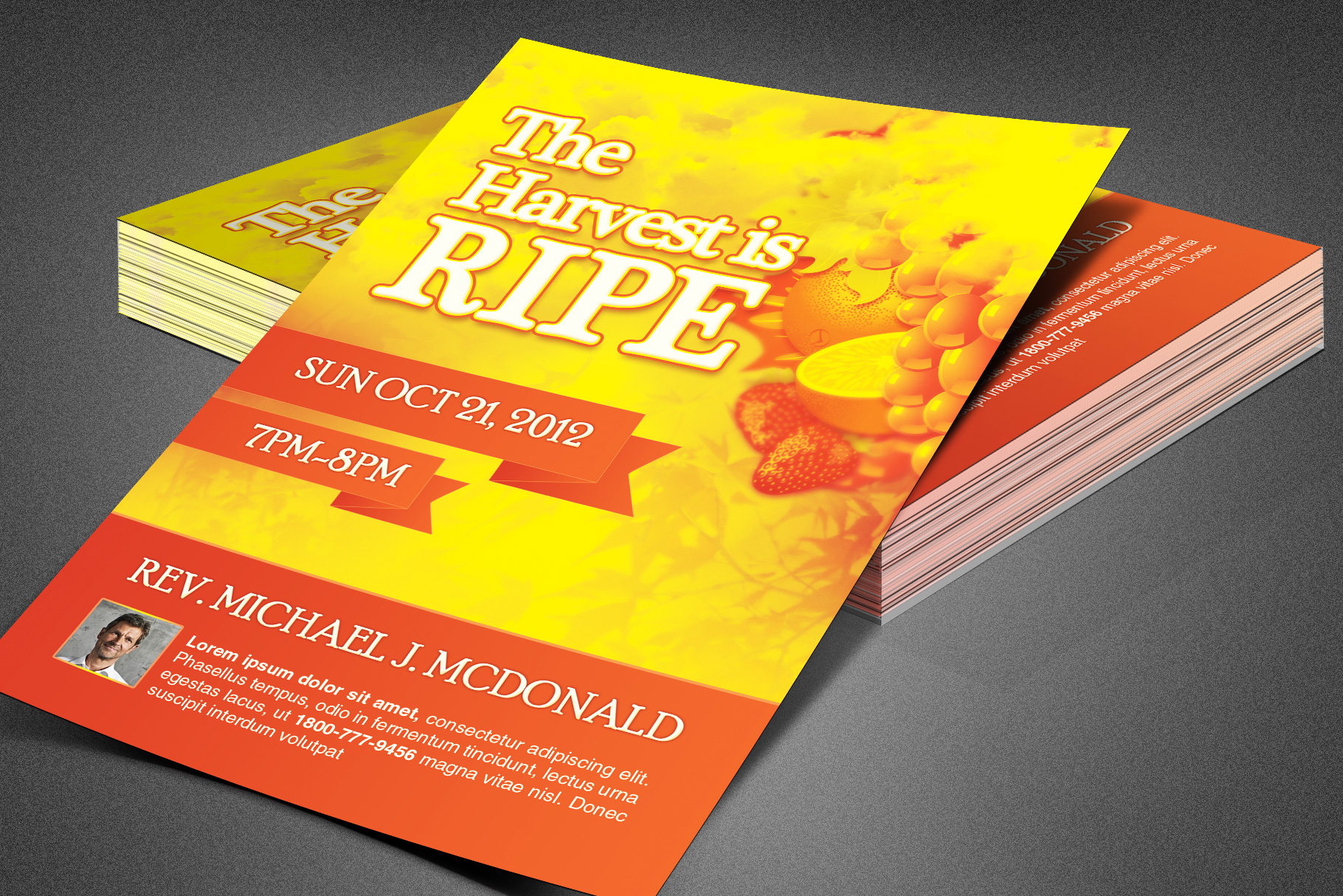 Harvest is Ripe Church Flyer example image 1