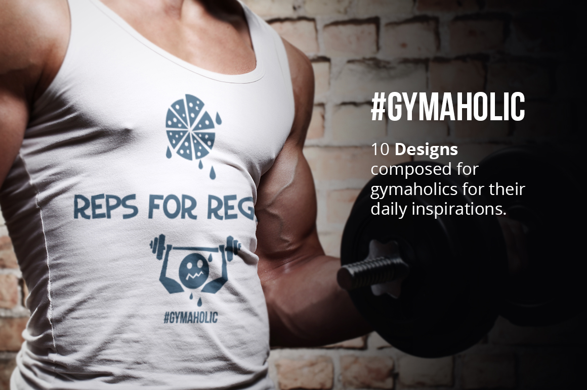 Gymaholic- Gym & Fitness Inspirational Print Designs Pack example image 2