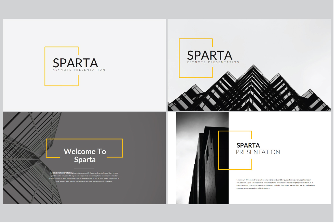 Sparta MNML Keynote Template example image 3