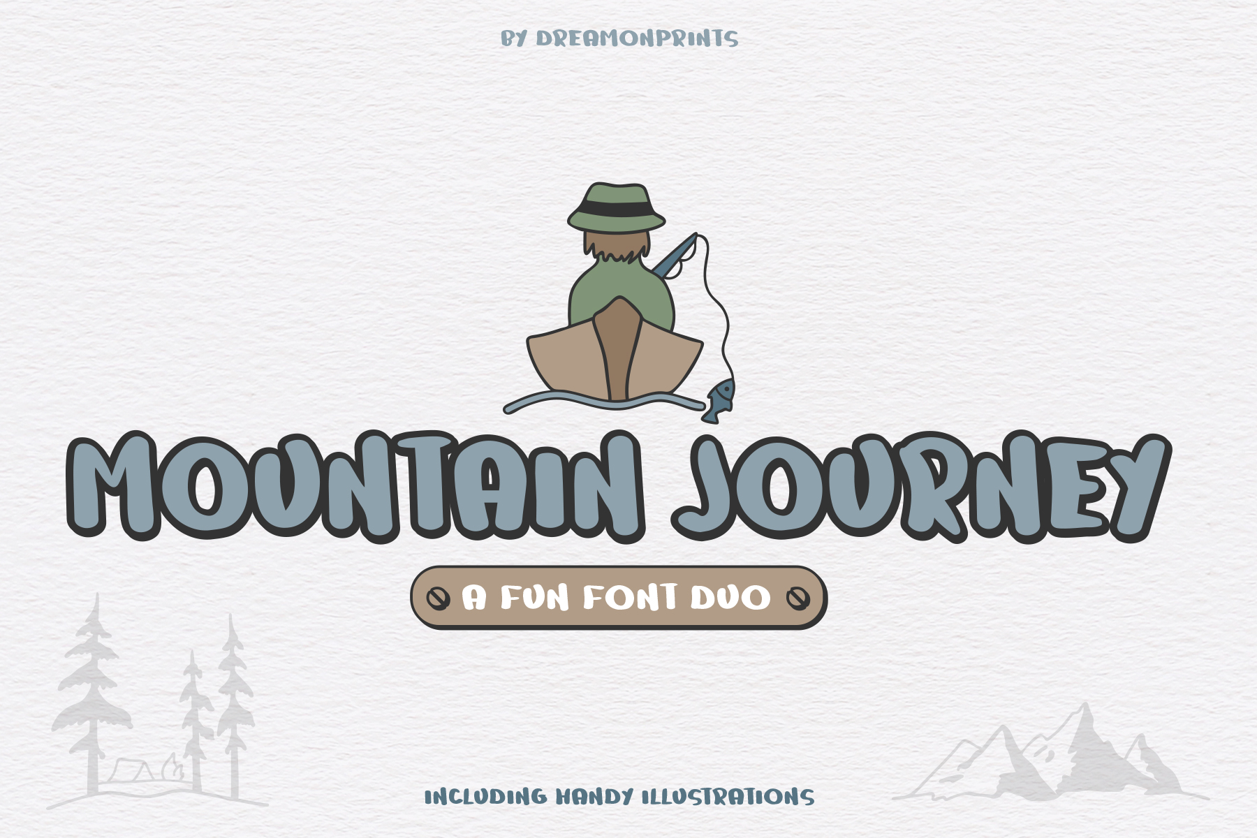 Mountain Journey - a Fun Font Duo example image 1