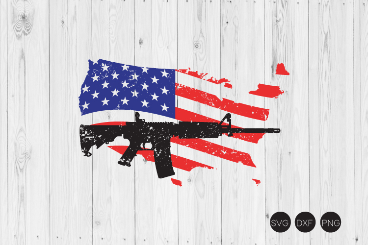 US Map Flag AR 15 SVG example image 1