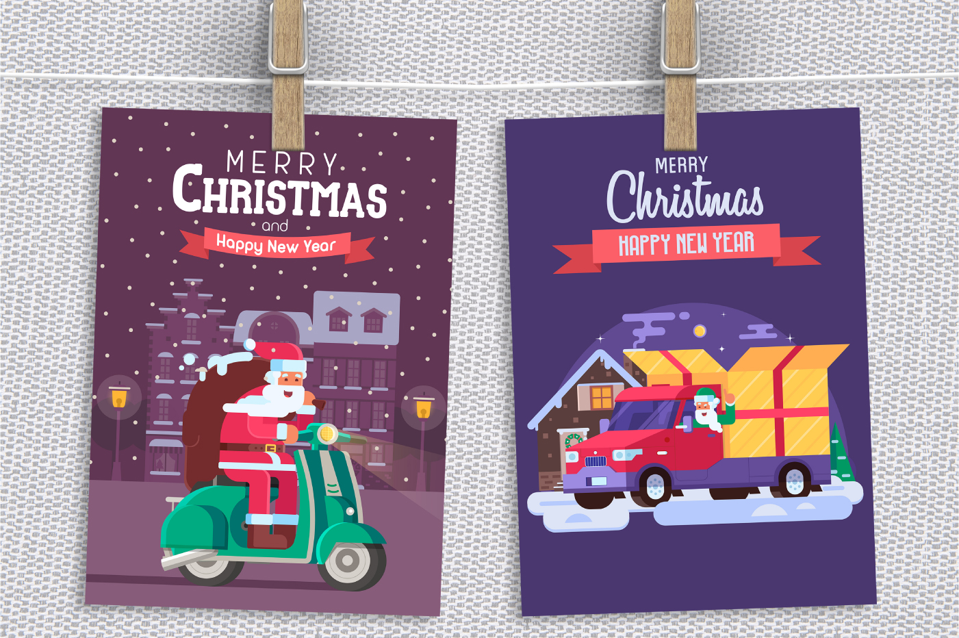Santa Delivery Service Cards and Scenes example image 2