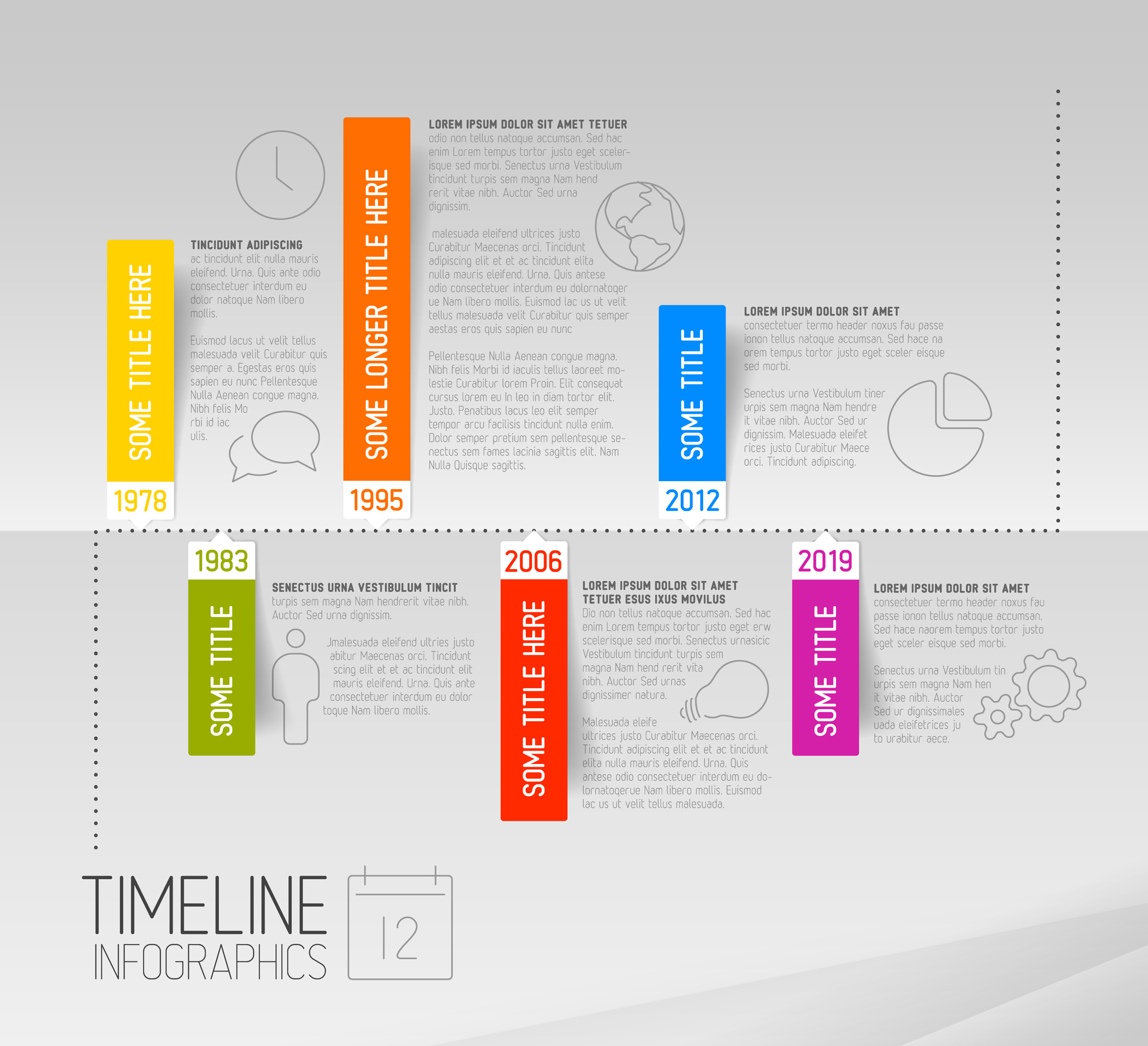 Infographic Timeline Templates Bundle example image 5
