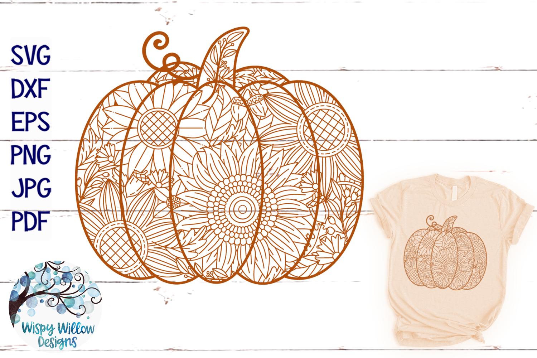 Pumpkin Zentangle SVG | Pumpkin Mandala SVG | Fall SVG example image 1