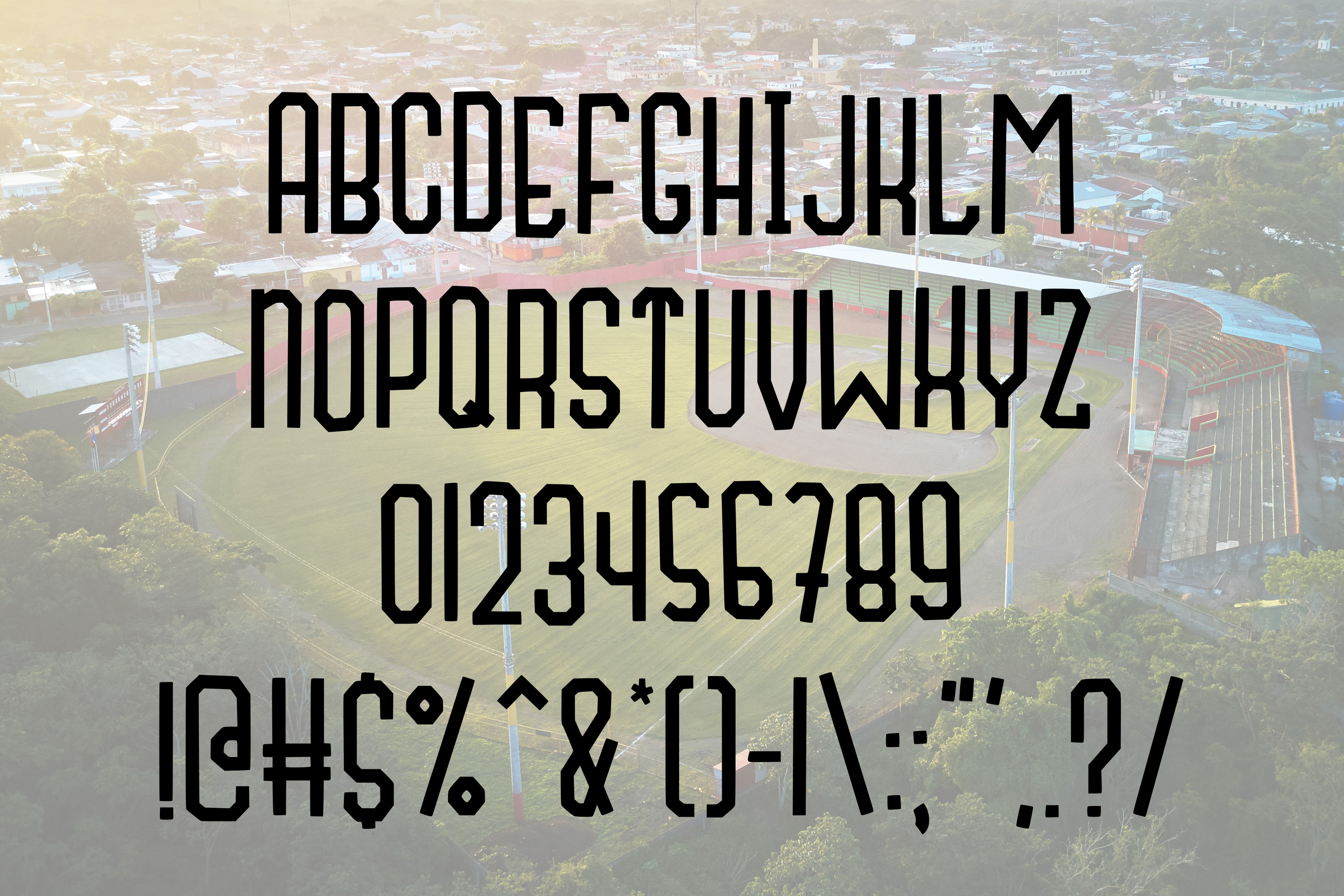 Fly Ball a Sporty Font Quad example image 5