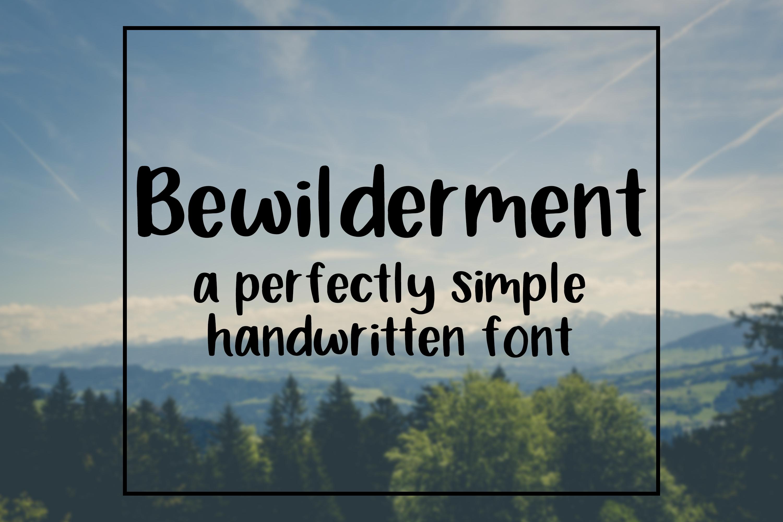 Bewilderment - Simple Handwritten Font example image 1