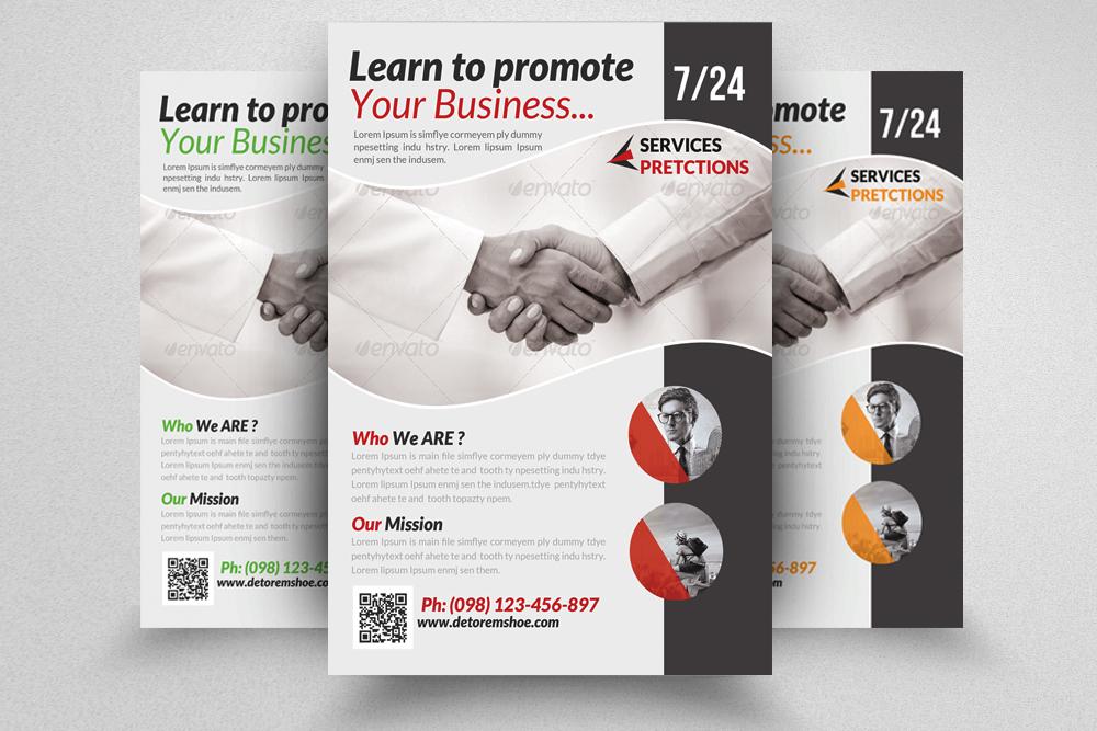 6 Corporate Business Flyers Bundle example image 3