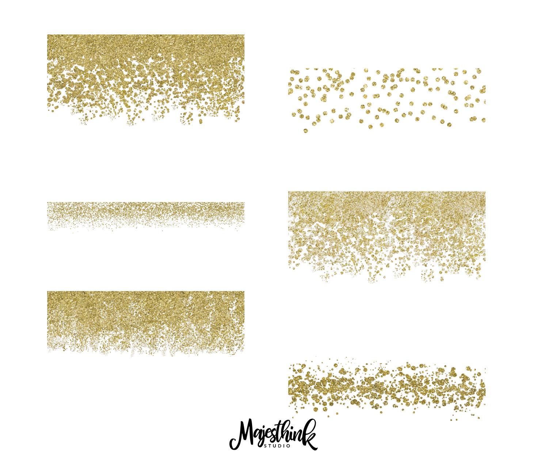 Gold Glitter Wall Border: Gold Glitter Border Clip Art