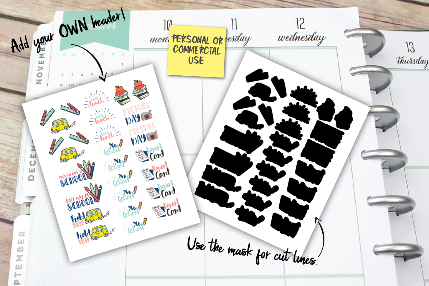 Garbage Planner Stickers example image 1