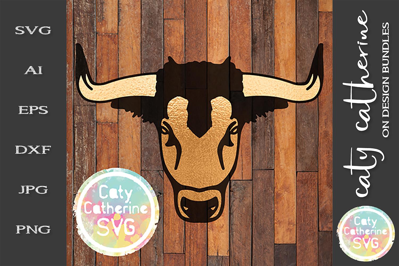Bull Head Taurus SVG Zodiac Cut File example image 1