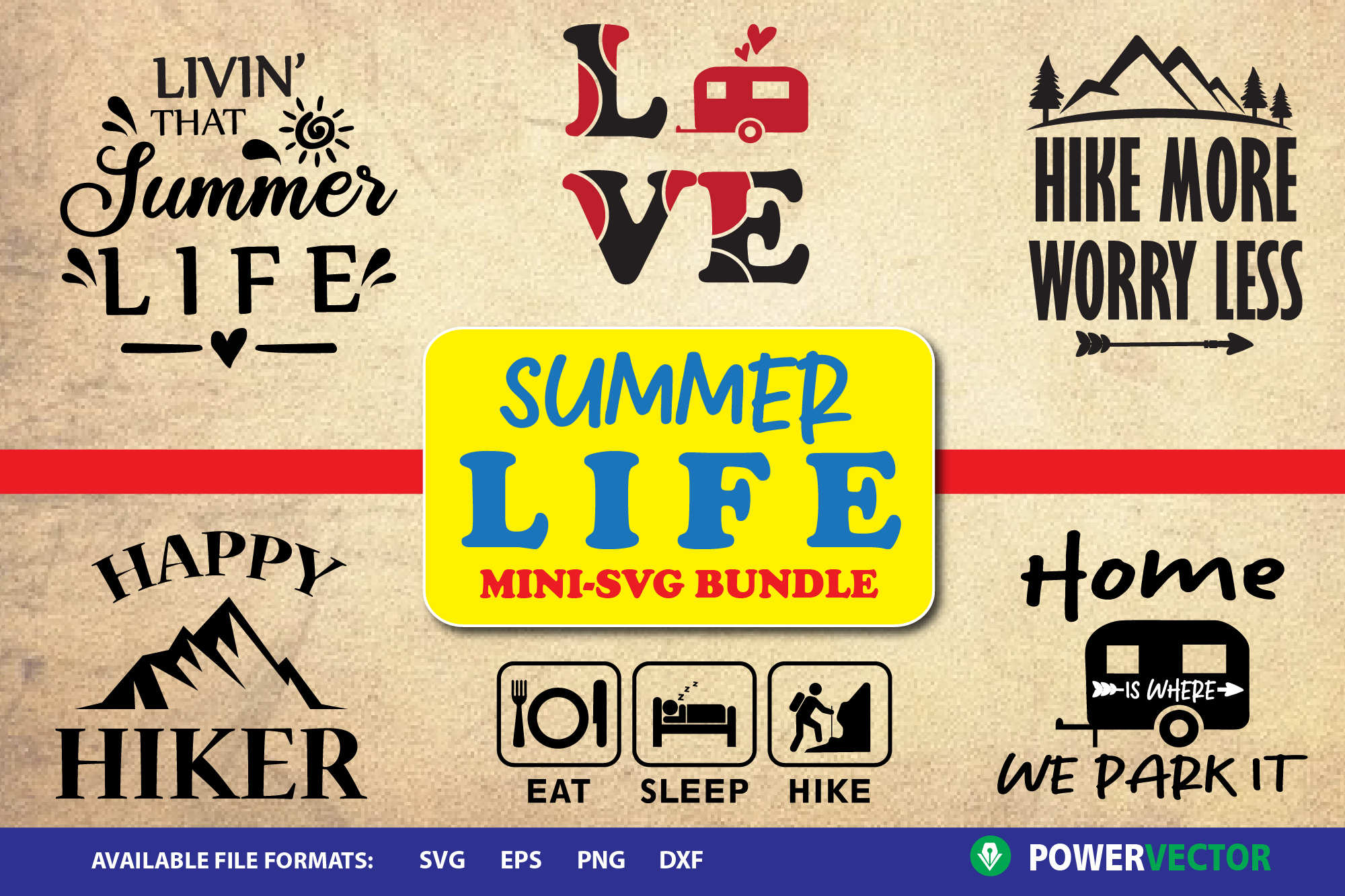 Summer Life - Camping, Hiking SVG Designs example image 1