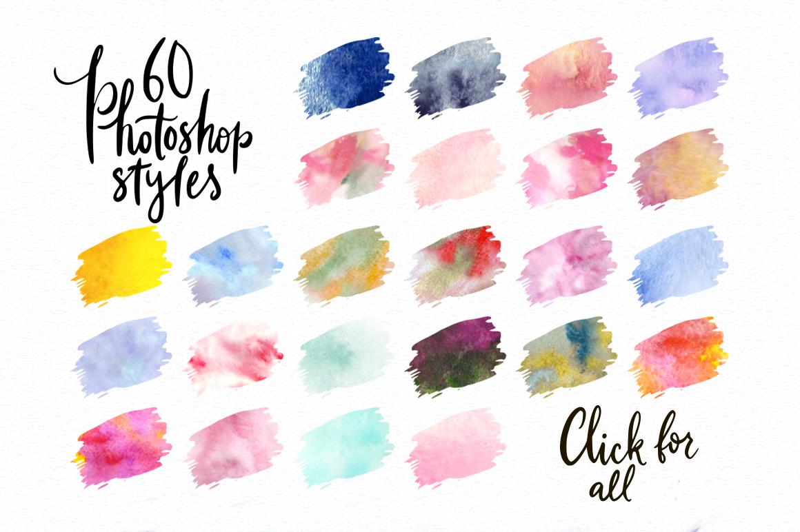 Watercolor world. Photoshop kit. example image 3