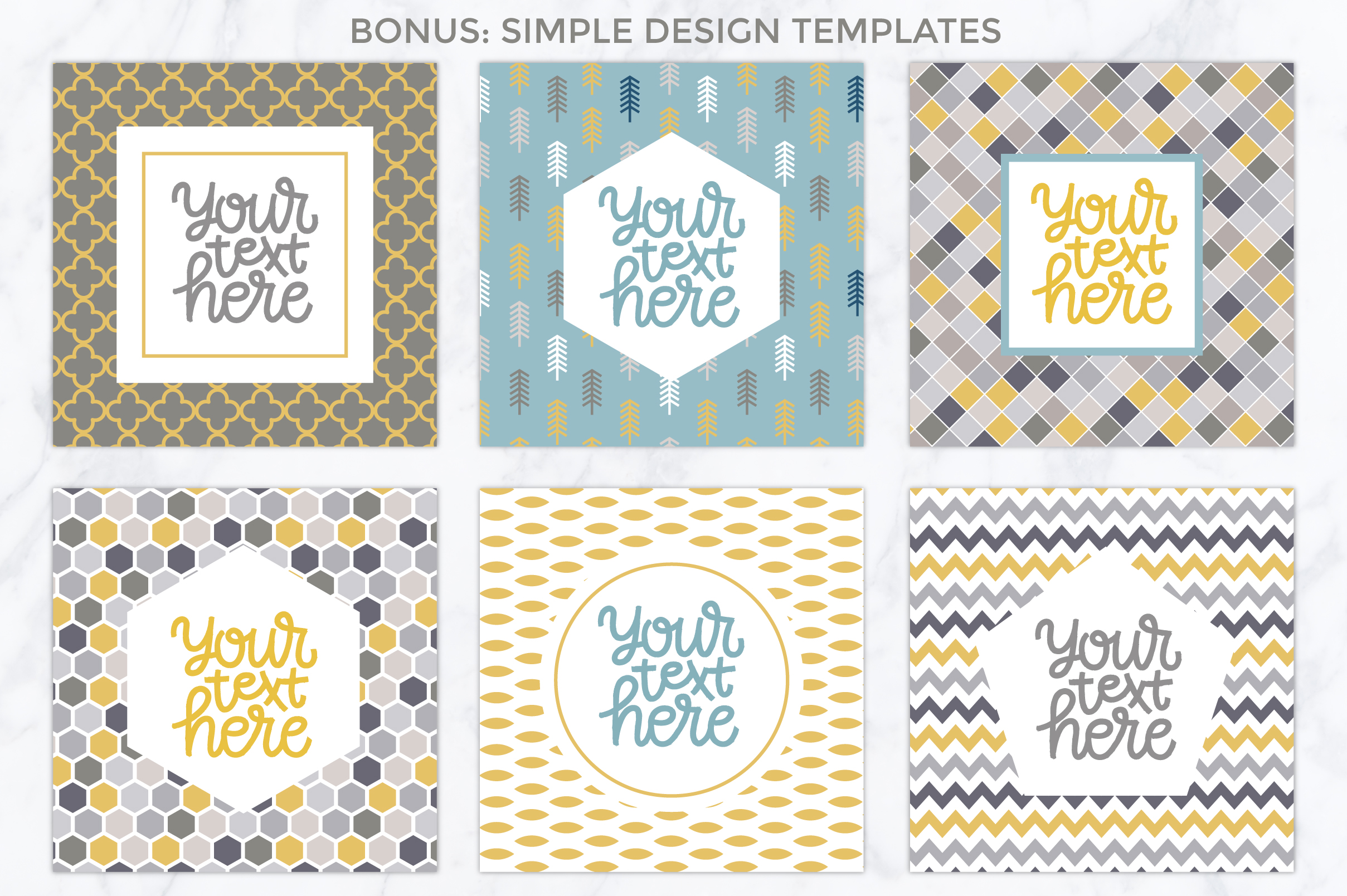 26 vector patterns Trendy Colors example image 5
