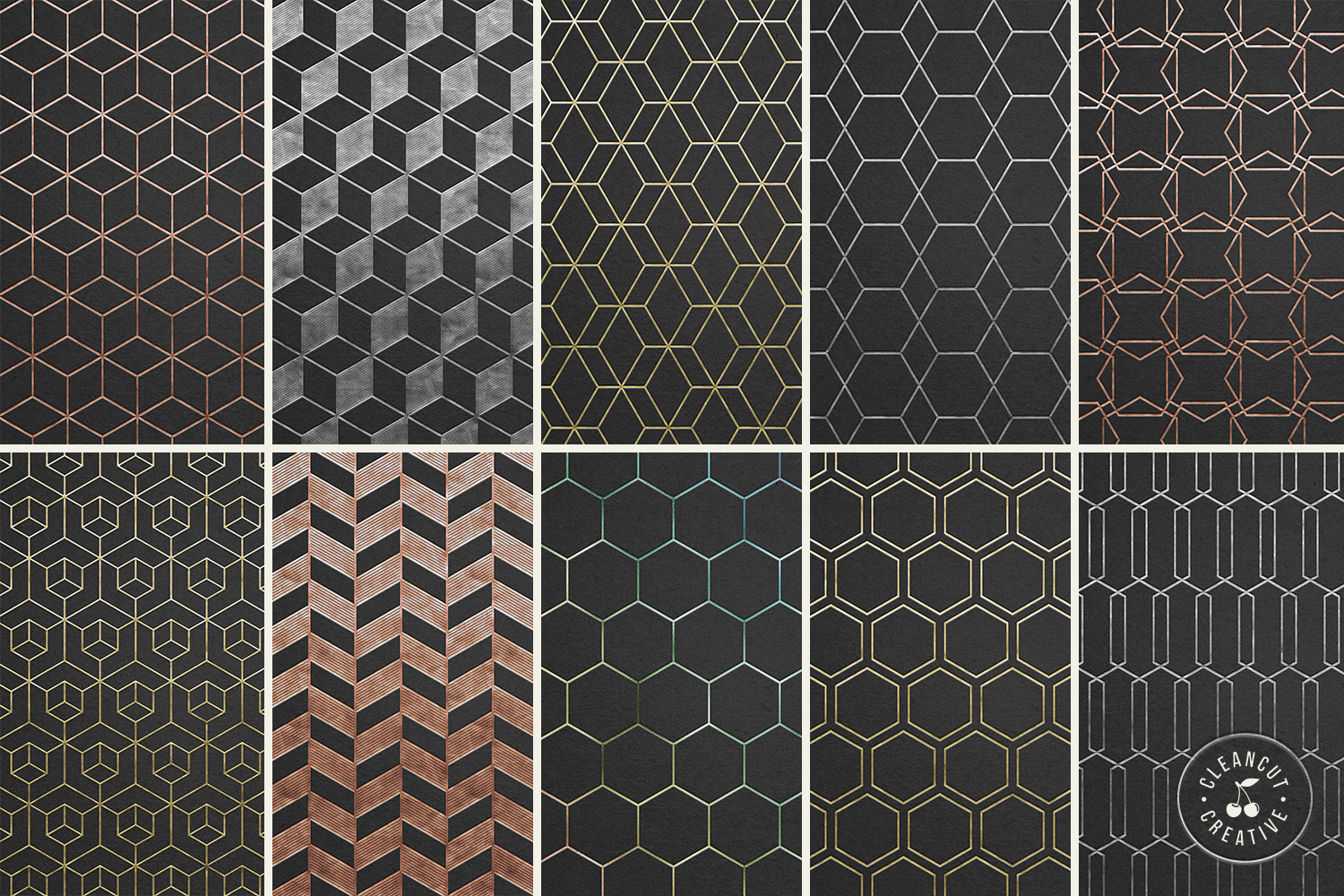 Foil Quill designs SVG   20 Geometric Single Line Patterns example image 2
